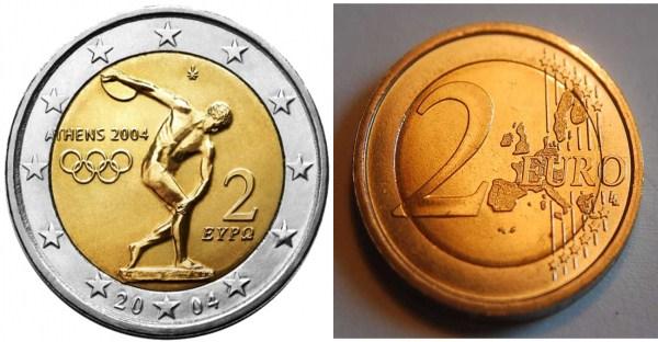 Greece Greece 2 Euro 2 coin Olympic Games Athens 2004